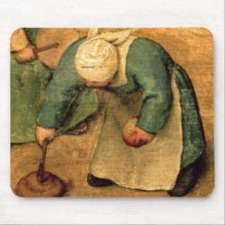 Children's Games : detail of a girl playing Mouse Pad