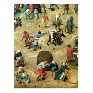 Children's Games : detail of bottom Postcard