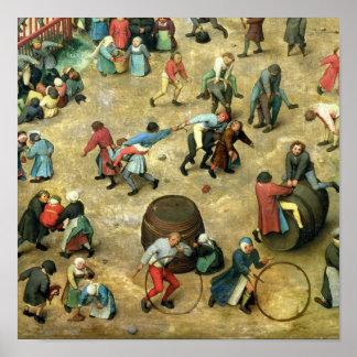 Children's Games : detail of bottom Poster