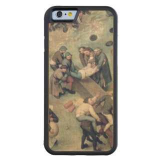 Children's Games : detail of bottom right-hand Carved® Maple iPhone 6 Bumper