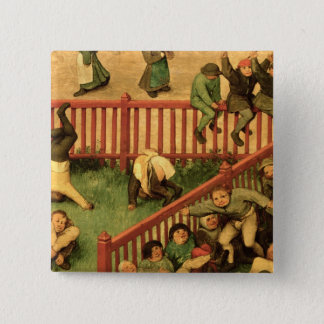 Children's Games : detail of left-hand section Pinback Button