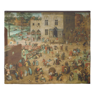 Children's Games Pieter Bruegel the Elder Duvet Cover