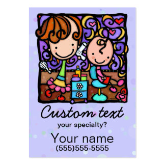 Children's Hair Salon Promo card template Large Business Cards (Pack Of 100)