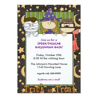 Childrens Halloween Bash Invitation