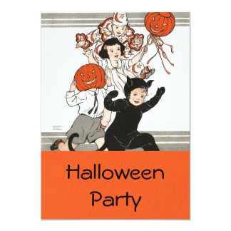 "Children's Halloween Costume Party 5"" X 7"" Invitation Card"