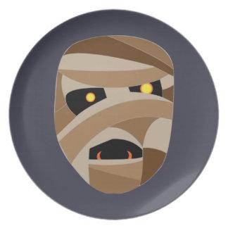 Children's Halloween Mummy Plate