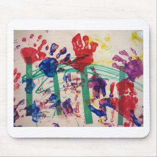 Children's handprint Garden Mousepad