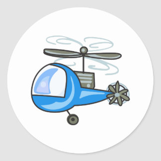 CHILDRENS HELICOPTER CLASSIC ROUND STICKER