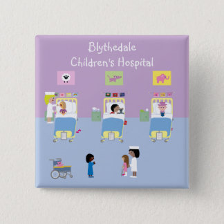 Children's Hospital Ward Customizable Pinback Button