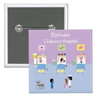 Children's Hospital Ward Customizable Pinback Button