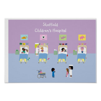 Children's Hospital Ward Customizable Poster