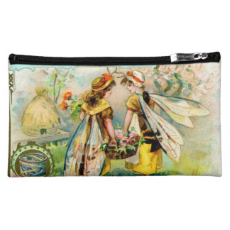 Childrens in insect costume: Wasp cosmetic clutch Makeup Bag
