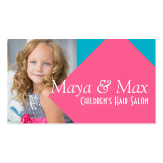 Kids fashions business cards templates zazzle for Childrens hair salon