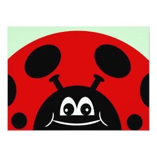 Children's Ladybug Birthday Party 5.5x7.5 Paper Invitation Card