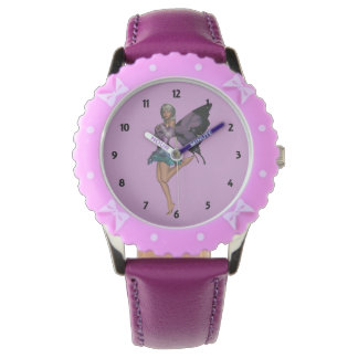 Childrens Lavender Fairy Numbered Watches