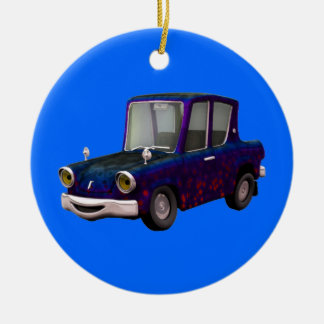 Childrens Little Car Blue Ornament