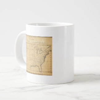 Children's Map Of The United States 20 Oz Large Ceramic Coffee Mug