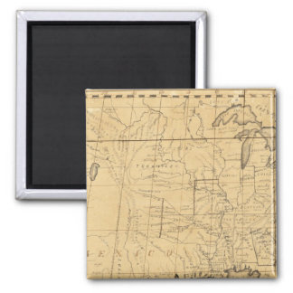 Children's Map Of The United States 2 Inch Square Magnet