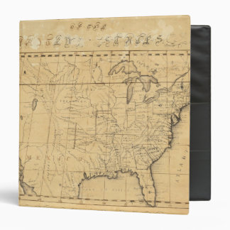 Children's Map Of The United States 3 Ring Binders
