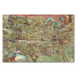 "Children's Map of the United States 10"" X 15"" Tissue Paper"
