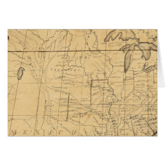 Children's Map Of The United States Greeting Card