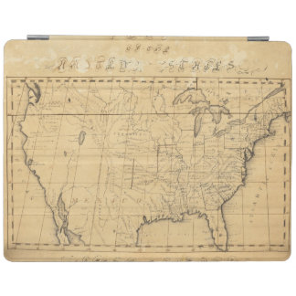 Children's Map Of The United States iPad Cover