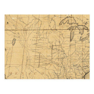 Children's Map Of The United States Post Cards