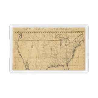 Children's Map Of The United States Rectangle Serving Trays