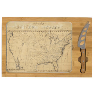 Children's Map Of The United States Rectangular Cheese Board