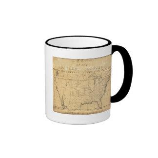Children's Map Of The United States Ringer Coffee Mug