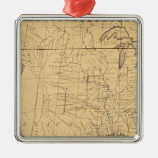 Children's Map Of The United States Square Metal Christmas Ornament