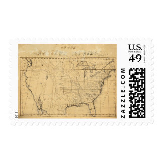 Children's Map Of The United States Stamps