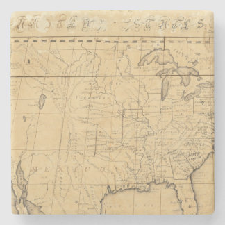 Children's Map Of The United States Stone Beverage Coaster