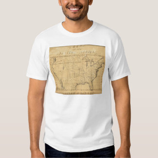 Children's Map Of The United States T Shirt