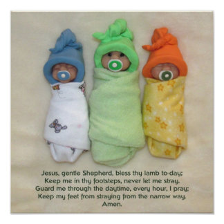 Children's Morning Prayer, Three Clay Babies Poster