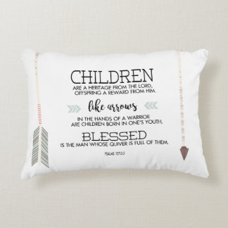 Children's Names Scripture Verse with Arrows Accent Pillow