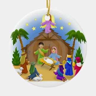 Children's Nativity  mug key chain necklace phone Christmas Ornaments