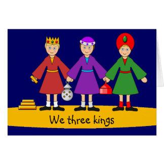 Children's Nativity - We three kings Greeting Card