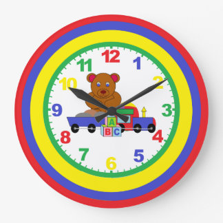 Childrens Nursery Clock With Numbers