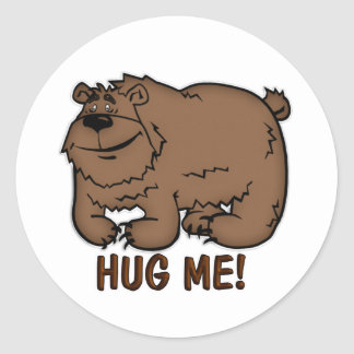 Children's Party Bag Stickers With Hug Me Bear