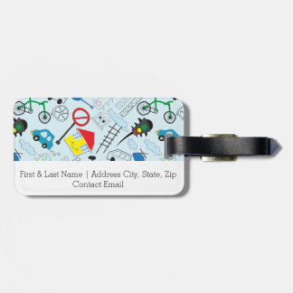 Children's Pattern - Euro Style Kids Luggage Tag