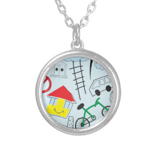 Children's Pattern - Euro Style Kids Silver Plated Necklace