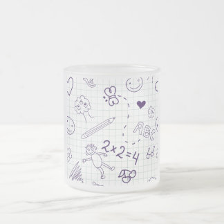 Children's Pattern Frosted Glass Coffee Mug
