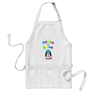 Childrens Peace and Love Kute Dog Adult Apron