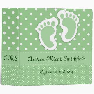 Children's Personalized Footprint Photo Album Binder