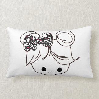 Children's Pillow Featuring Girl Illustration