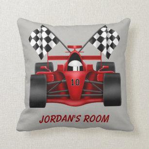 Race Car Decorative Throw Pillows Zazzle