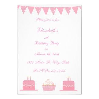 Children's Pink Birthday Party Invitations