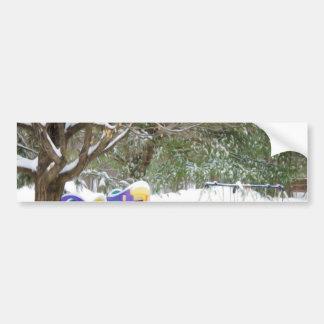 Children's playground in the snow bumper sticker