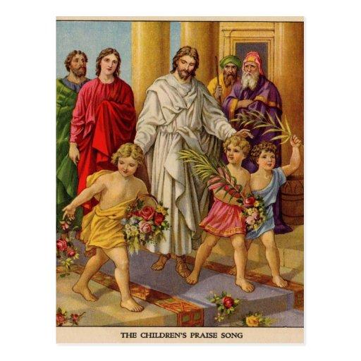 Childrens Praise march Post Card